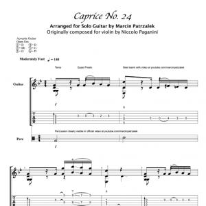 Paganini's Caprice no. 24 – TABS