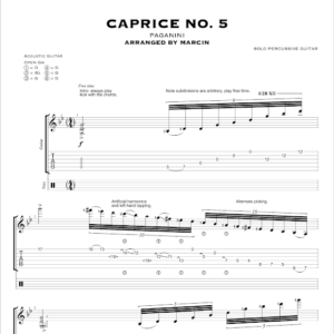 Paganini's Caprice no. 5 – TABS